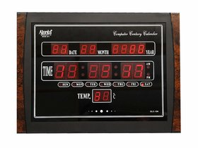 Ajanta Quartz Digital Red LED Rectangle Wall Clock OLC - 104