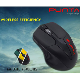 Punta Flyer Wireless Optical Mouse  USB 2.0, Black
