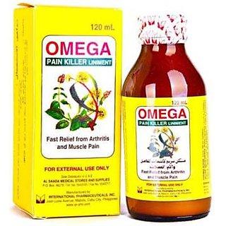 Omeg Pain Killer Liniment Oil 120ml (Pack of 2)