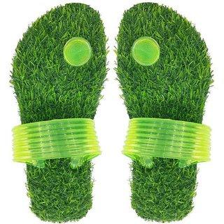 Green Grass Flip Flops slippers