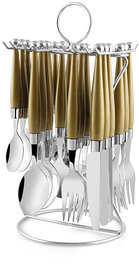 G-MTIN Solitaire Grey 24 Pc Cutlery Se Stainless Steel Cutlery Set  (Pack of 24)