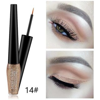 Miss Rose #14 Liquid Glitter Eyeliner Long Lasting Waterproof Shimmer Women Sexy Eyes Makeup