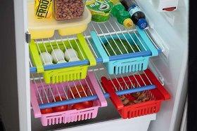 Shopper52 Multipurpose Fridge Storage Sliding Drawer Fridge Storage Rack Freezer Fridge Basket - FRIDGETRAY