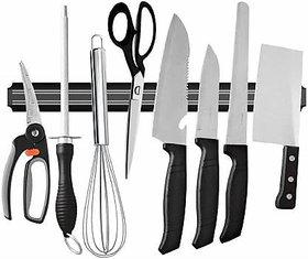 Shopper52 Wall Mount Magnetic Knife Holder Chef Rack Magnetic Strip Kitchen Organiser Magnet   KNIFEHANGER