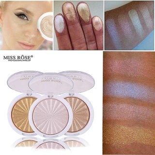 Miss Rose #5 Chocolate New 3D Shimmer Powder Highlighter Palette Face Base Illuminator Makeup