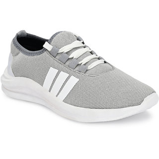 Walkstyle By El Paso Men's Grey Air Mesh Series Sports Running Shoes