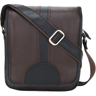 BumBart Collection Men  Women Casual Brown  Black Colour Artificial Leather Sling Bag