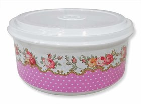 Shopper52 Plastic Lunch Box Tiffin Dabba Multi Purpose Containers for Home Office Use - 5PCRDLUNCH-PK