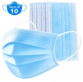 Yash HR 3 Ply Medical Surgical Dust Face Mask Ear Loop (Pack of 10 - Flumask)