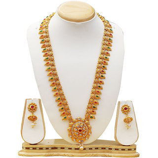 Dream on Gold pleted traditional necklace jewellery set for woman