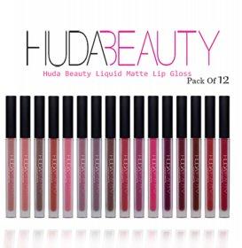 huda beauty liquid matte lipstick set of 12 tavish
