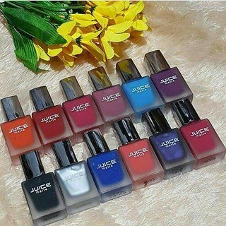 Imported Juice Matte Nail Paint Set Of 12 - Assorted Colors