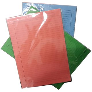 Uc collection  One Side Ruled Colour Paper - A4 Size (Pack of 2)