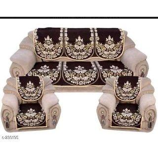 Premium furnishing five seater pure cotton sofa cover set of ten pieces.(LXW) (178X74 cm).