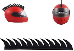 Ramanta Cuttable Helmet Mohawk Helmet Spikes Bike Helmet Spikes for universal for all Bikes