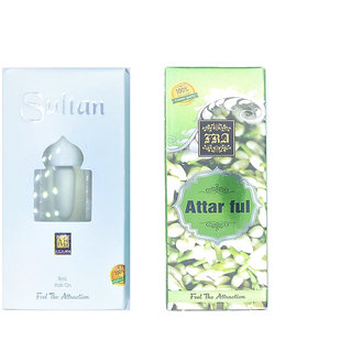 Raviour Lifestyle  Sultan Attar and Attar Full Floral Roll on Attar Each 8ml Combo Pack