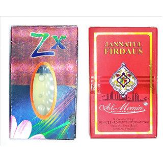 Raviour Lifestyle  ZX Attar and Jannat Ul Firdaus Floral Roll on Attar Each 8ml Combo Pack