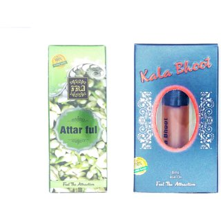 Raviour Lifestyle  Attar Full Attar and Kala Bhoot Floral Roll on Attar Each 8ml Combo Pack