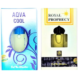 Raviour Lifestyle  Royal prophency Attar and Aqua Cool Floral Roll on Attar Each 8ml Combo Pack