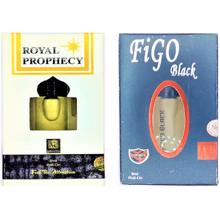 Raviour Lifestyle  Royal prophency Attar and Figo Black Floral Roll on Attar Each 8ml Combo Pack
