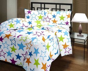 SIE STORE Poly Cotton Multicolor Single Bed Dohar For Adults
