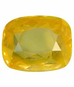 Riddhi Enterprises 5.25 ratti natural yellow sapphire pukhraj energized loose gemstone for astrology purpose