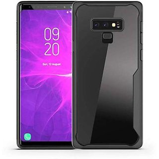 GADGETWORLD Luxury Back Cover for Samsung Galaxy Note 9 (Transparent, Grip Case)