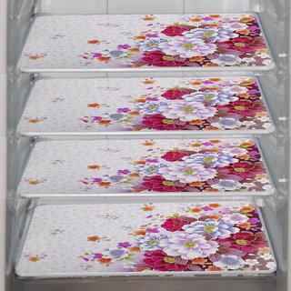 ARADENT Multipurpose Refrigerator Mats Set of 4 Pcs for Single Door Fridge (Size: 12X17 Inches, Color : Multicolor)