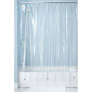 HomeStore-YEP 0.30mm PVC AC Transparent Curtain for Door (Width-54 Inches X Height-108 Inches) 9 Feet - Pack of 1 Pc