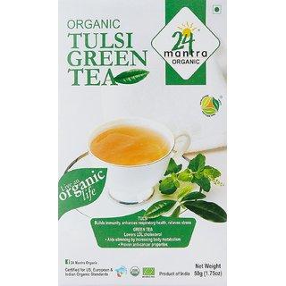 24 Mantra Organic Green Tea 100 Gms