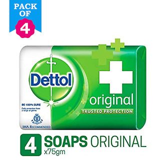 Pack of 4 Dettol Original Soap 4x75GMS