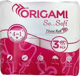 Origami So Soft Toilet Paper Roll (3 Ply, 340 Sheets)