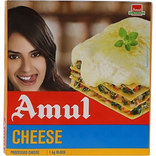 Amul Plain Processed Cheese Block (1 Kg)