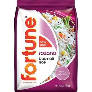 Fortune Rozana (1 kg ) Basmati Rice (Medium Grain)