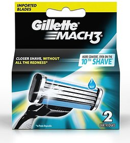 Gillette Mach 3 Cartridge  Pack Of 2