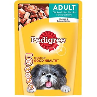 Pedigree Adult Gravy Chicken, Liver Dog Treat (70 G) (Pack of 2)