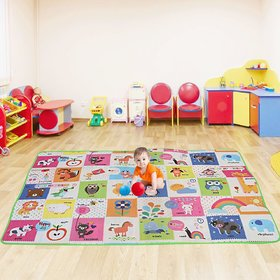 HomeStore-YEP Double Sided Water Proof Baby Mat Carpet Baby Crawl Playing Mat For Kids (Large Size - 4 Feet X 6 Feet)