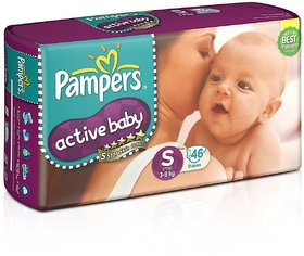 Pampers Active Baby Diapers - S (46 Pieces)