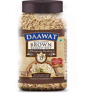 Daawat Brown Basmati Rice (Medium Grain) (1 Kg)