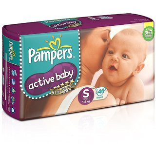 Pampers Active Baby Diapers   S  46 Pieces