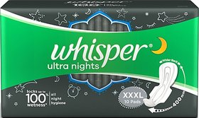 Whisper Ultra Night Sanitary Pad XXXL (Pack of 10)