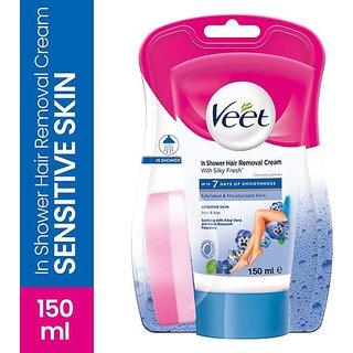 Veet Inshower Hair Removal Cream For Men & Women Sensitive Skin - 150ml