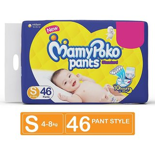 MamyPoko Pants Standard Diapers Small Size Pack of 46