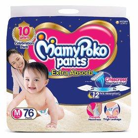 MamyPoko Pants   M  76 Pieces