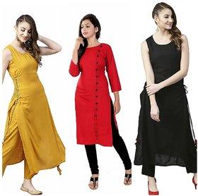 Aiza collection dori design crepe kurti combo pack of 3