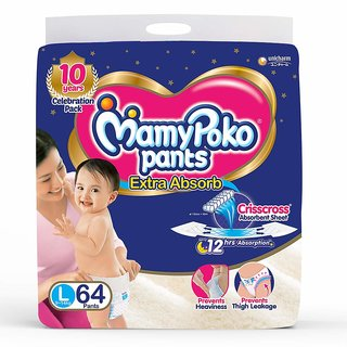 MamyPoko Pants   L  64 Pieces