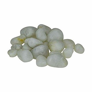 AVMART Natural White Marbles Decorative Stone for Garden/Lawn/Aquarium Decoration 300 gm (ASTONESWHITE01)