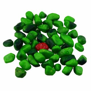 AVMART Natural Green Marble Decorative Stone for Garden/Lawn/Aquarium Decoration 300 gm