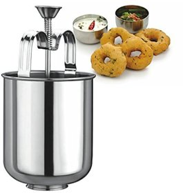 SilverShopIndia Stainless Steel MEDUVADA Maker for Perfectly Shaped  Crispy Medu Vada, Hygienic Without Hassle Silver