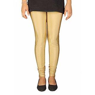 Womens Golden Shimmer Soft Comfortable Churidar Leggings